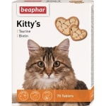 Beaphar кормовая добавка с биотином и таурином для кошек, Kitty's + Taurine-Biotine 75 табл.